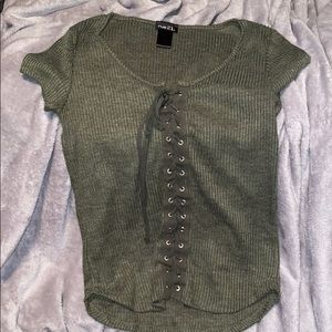 Rue21 lace up tee